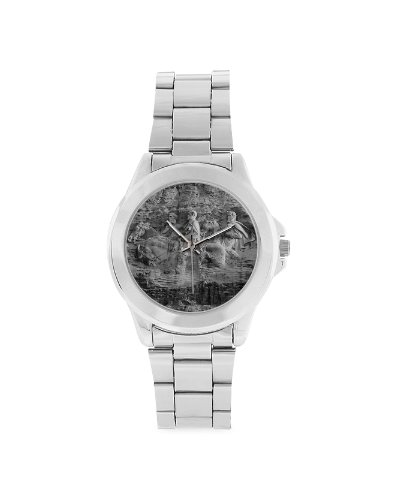 Stone Mountain stainless steel wrist watch