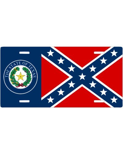 Texas Seal Confederate no fade car tag