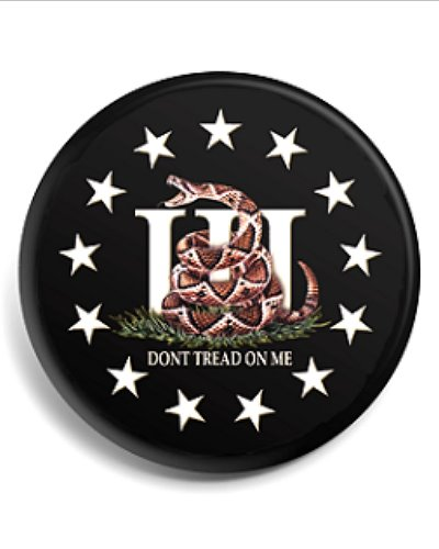 Three Percenter Dont Tread On Me button