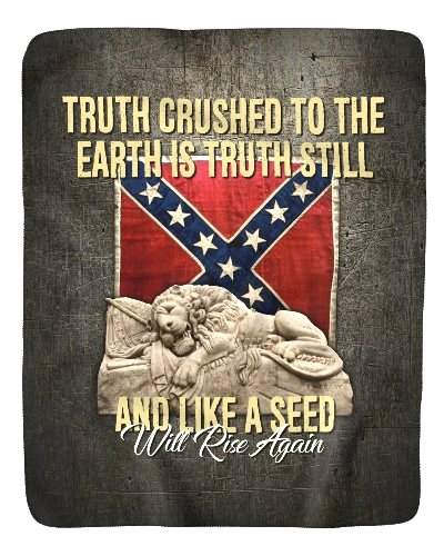 Truth Crushed to the Earth sherpa fleece blanket