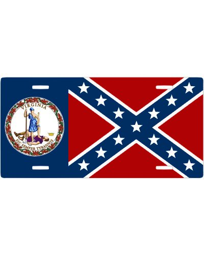 Virginia Confederate no fade car tag