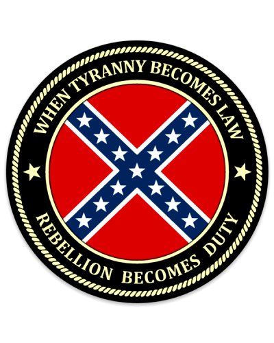 When Tyranny Becomes Law round sticker