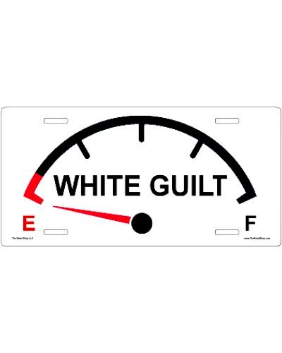 White Guilt On Empty no fade car tag