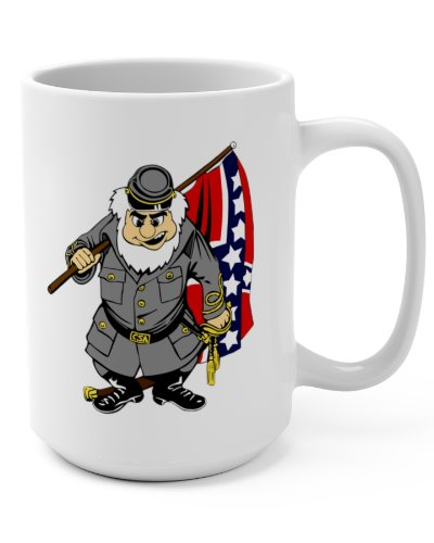 cartoon Confederate soldier coffee mug