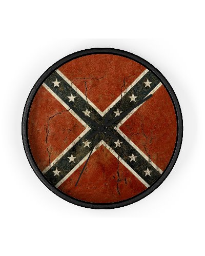 Cracked Concrete Confederate flag wall clock