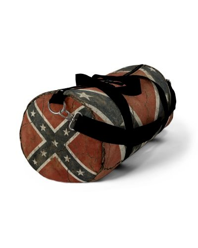 Cracked Concrete Confederate Flag all over print duffel bag