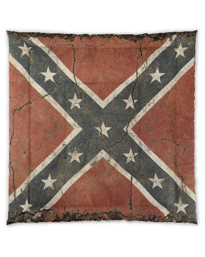 Cracked Concrete Confederate flag comforter