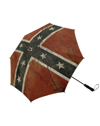 Cracked Concrete Confederate Flag umbrella
