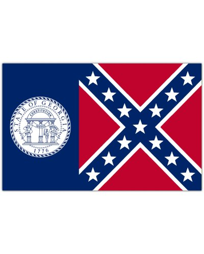 old Georgia State Flag car magnet
