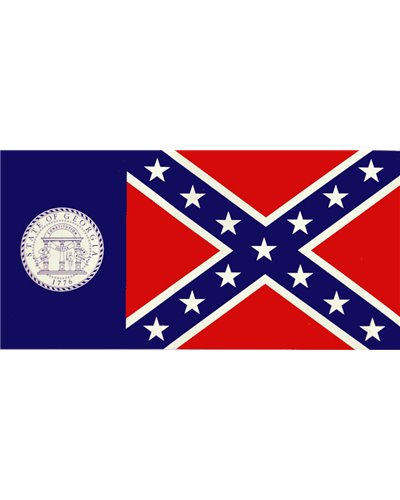 old Georgia State flag bumper sticker