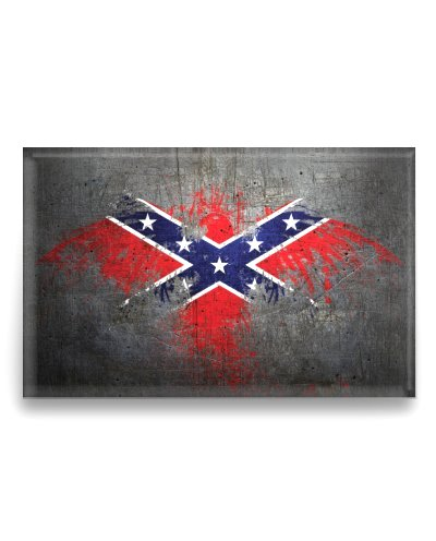 Painted Confederate Flag Eagle refrigerator magnet